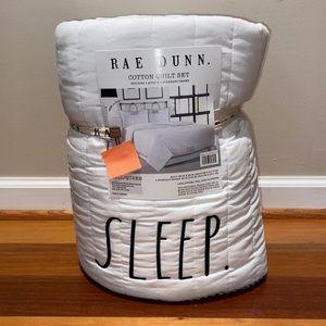Rae Dunn F/Q bedroom quilt set